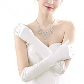 Opera Gloves Wedding Satin Long Gloves Evening Party Cosplay 1920s