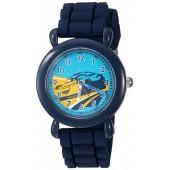 Disney Boy's 'Cars 3' Quartz Plastic and Silicone Casual Watch, Color:Blue (Model: WDS000301)