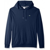 Lacoste Men's Long SleeveHoodie Jersey Tee With Central Pocket