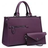 443291b28cde Dasein Purses and Handbags Shoulder Bags Tote Bags for Women Satchel  Handbags With Wallet 2pcs
