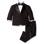 Nautica Baby Boys' Tuxedo Suit Set with Bow Tie