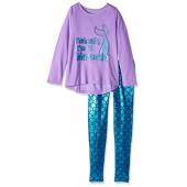 Komar Kids Big Girls' Mermaid 2 Piece Legging Sleep Set