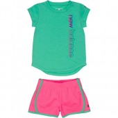 New Balance Girls' Athletic Tee and Short Sets