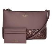 Kate Spade New York Greta Court Ramey WKRU5693 bundled with matching Graham Card Case Wallet WLRU5200