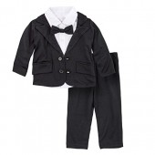 BIG ELEPHANT Baby Boys Tuxedo Suit Formal Party Set Wedding Outfit E16