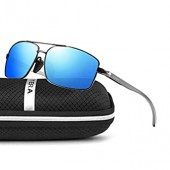 ELITERA 경량 정사각형 편광 선글라스 남성용 UV400 보호 E2458