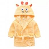 Animal Fleece Bathrobe Children Pajamas Sleepwear kids/Toddler Hooded Plush Robe Deer