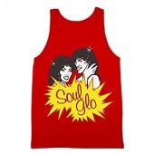 Soul Glo Funny Retro Movie Glow Randy Watson Sexual Chocolate Band Coming America Hip Old School 80s Humor Mens Tank Top