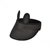 Style Summer Cartoon Rabbit Ear Outdoor Straw Weaving Cap Sun Protection Shade Wide Brim Visor Hat for Kid