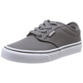 Vans Kids Atwood (Canvas) Pewter/White Skate Shoe 3.5 Kids US
