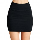 Fashionazzle Women's Casual Stretchy Bodycon Pencil Mini Skirt