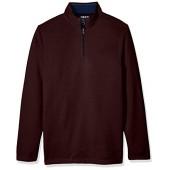 IZOD Men's Big and Tall Saltwater Solid 1/4 Zip Sweater