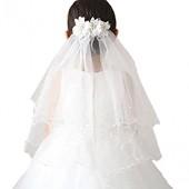 YAHUIPEIUS 여아용 베일 꽃 다층 첫 성찬식 베일