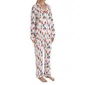 BedHead Womens Long Sleeve Classic Notch Collar Pajama Set