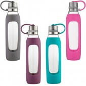 Contigo Purity Glass Water Bottle with Silicone Tethered Lid, 20 oz.