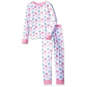 trimfit Big Girls' Organic Cotton 2-Piece Long Sleeve Dreamwear Pajama Set