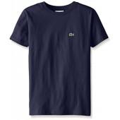 Lacoste Little Boys' Short Sleeve Classic Cotton Jersey Crew Neck T-Shirt