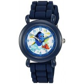 Disney Boy's 'Finding Dory' Quartz Plastic and Silicone Casual Watch, Color:Blue (Model: WDS000003)