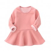 Baby Girl's Winter Dress Long Sleeve Infant Toddler Tops Blouse Cotton Thicken T Shirt