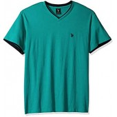 U.S. Polo Assn. Men's Double Ringer V-Neck T-Shirt