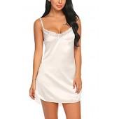 e07d8346a2 Avidlove Women s Nightwear Sexy Satin Sleepwear Lace Chemises Mini Full Slip
