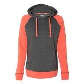 MV Sport W15110 Women's Reese Raglan Hooded Pullover Sweatshirt