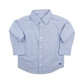 RuggedButts Infant/Toddler Boys Light Blue Chambray Long Sleeve Button Down