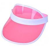 Age 3-10 Transparent Poker Sun Visor UV Hat Cap Summer Beach Jelly Plastic Toddler Kids Children
