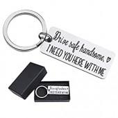 Drive Safe Keychain I Love You Keychain For Boyfriend I Need You 열쇠고리 남편 아버지 열쇠고리