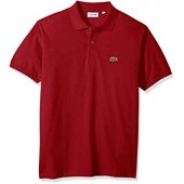 Lacoste Men's Short Sleeve Classic Chine Fabric L.12.64 Original Fit Polo Shirt, X-Small