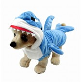 Mogoko Fancy Style Adorable Blue Shark Jaws Pet Costume Festival Dress Clothing Daily Wearing Outfit Hoodie Coat for Dogs and Cats