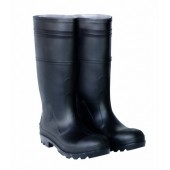 CLC Rain Wear R23007 Over The Sock Black PVC Men's Rain Boot, Size 7