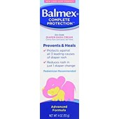 Balmex Complete Protection Diaper Rash Cream w/Zinc Oxide, 4 Ounce