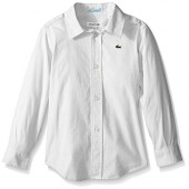 Lacoste Boys' Long Sleeve Oxford Woven Shirt