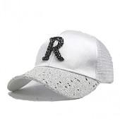 Children Hip Hop Baseball Cap Summer Sequin R Letters Kids Sun Hat Boys Girls Snapback Breathable mesh Caps