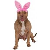Rubies Costume Company Crinkle Pink Bunny Ears Pet Headband
