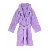 TowelSelections Girls Robe, Kids Plush Shawl Fleece Bathrobe, Made In Turkey