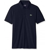 Lacoste Men's Golf Short Sleeve Ultra Dry Tech Jersey Solid Jaquard Polo, DH8132