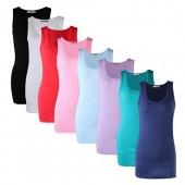 Hanes Women's Stretch Cotton Cami With Built-In Shelf Bra