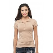 Hollywood Star Fashion Classic Short Sleeve Jersey Polo Shirt