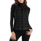Sarin Mathews Womens Packable Ultra Lightweight Down Vest Outdoor Puffer Vest