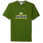 Lacoste Men's Short Sleeve Graphic Jersey Tee With Printed Logo