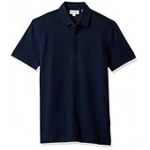 Lacoste Men's Short Sleeve Solid Stretch Pique Regular Fit Paris Polo, PH5522