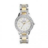 Fossil Women's 34mm Jesse Two-Tone Crystal Watch