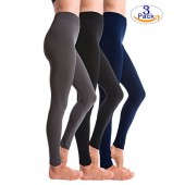 Homma 3-Pack Fleece Lined Thick Brushed Leggings Thights by