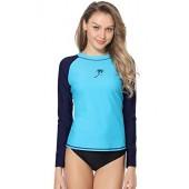 Marina Threads Women's Long Sleeve Rash Guard Swim Shirt