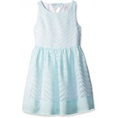 Gymboree Girls' Big Mint Chevron Dress,