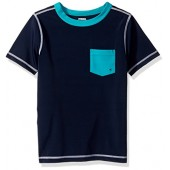 Gymboree Big Boys' Nvy Teal Pocket Rashguard