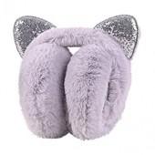 Longra Women Winter Windproof Warm Fashion Modern Vivid Cartoon Cat Ears Design Adjustable Earmuffs