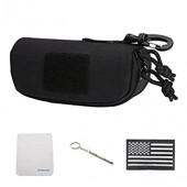 Tactical Molle Zipper 1000D Nylon Sunglasses Case Eyeglasses Hard Case Outdoor Portable Travel Carry Glasses Case